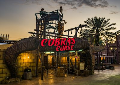 Entrance to Cobra's Curse at Busch Gardens Tampa.