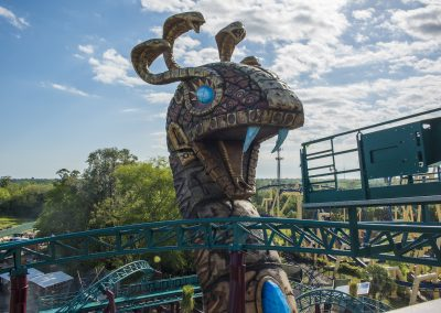 The Snake King of Cobra's Curse at Busch Gardens Tampa.