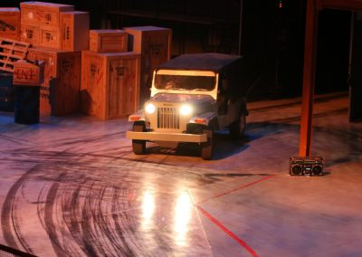 Dabangg Stunt Spectacular at Bollywood Parks in Dubai - Stunt Car Entrance During the Show