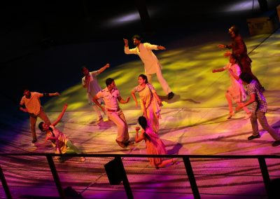 Finale for the Dabangg Stunt Spectacular at Bollywood Parks in Dubai.