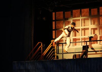 Stuntwork in the Dabangg Stunt Spectacular at Bollywood Parks in Dubai.