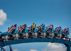 Riders on Mako at SeaWorld Orlando
