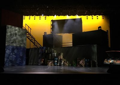 Stage for Step Up: All In at Motiongate Dubai.