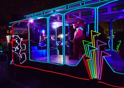 Trolley Unit for the Six Flags Glow in the Park Parade.