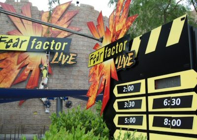 Universal Studios Fear Factor, Live